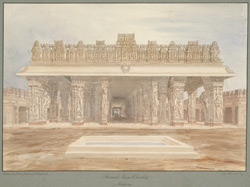 Raja Tirumala Nayyak's Choultry, Madura. Drawn by W.G.P. Jenkins, William W. Whelpdale and Ravanat Naik